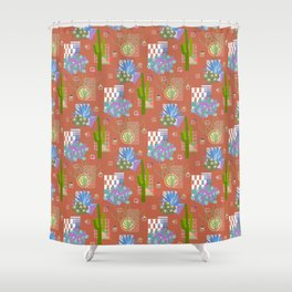 Modernism Desert Landscape Shower Curtain