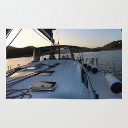 Beneteau Boat deck sunset Rug