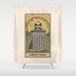 King of Trash Shower Curtain