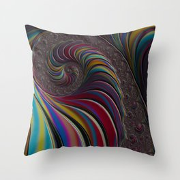 Overflow Fractal Throw Pillow