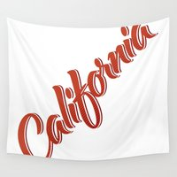 california Wall Tapestries featuring California by mavgraphic