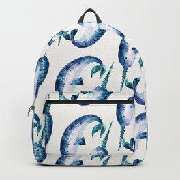 Blue Narwhals Backpack
