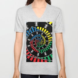 Spinning Disc Golf Baskets Unisex V-Neck