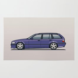 BMW E36 328i Touring Wagon Techno Violet Rug