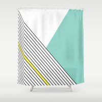 minimal Shower Curtains featuring MINIMAL COMPLEXITY by .eg.