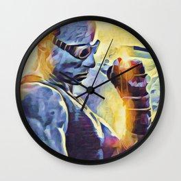 Riddick Artistic Illustration Epic Light Style Wall Clock