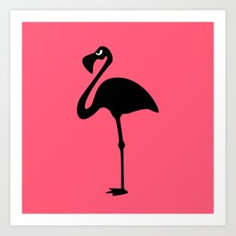 Angry Animals: Flamingo Art Print