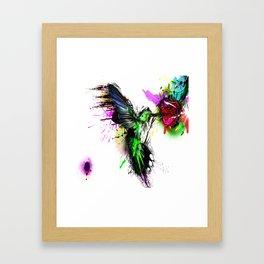 Colorful Honeybird Abstract Framed Art Print