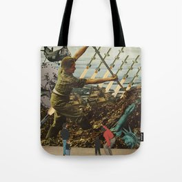 Marriage of Nationalist Security & Capitalist Democracy Tote Bag
