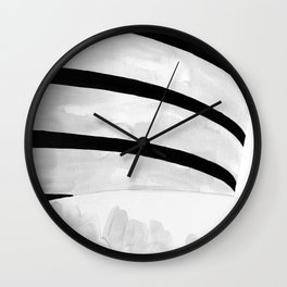 Architecture sketch of the Guggenheim Museum New York Wall Clock