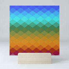 Rhombs Vintage colors Mini Art Print