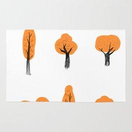 Orange Trees. Rug