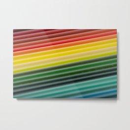 Coloured pencils Metal Print