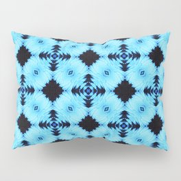 Pattern on blue background Pillow Sham