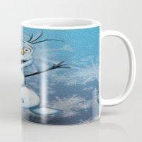 olaf Mugs featuring Olaf by MandiMccl