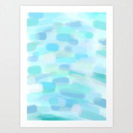 Brushtrokes Sea Art Print