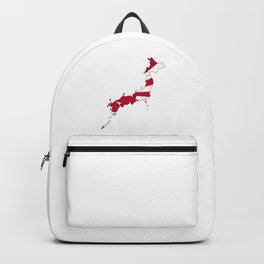 Japanese Map and Flag Backpack