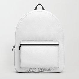 Dodo Bird We Shall Rise Again Retro Vintage Animal Lover design Backpack