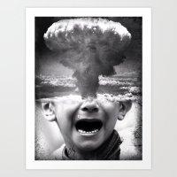 war Art Prints featuring War by Cash Mattock