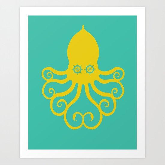 The Kraken Encounter Art Print