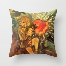 Straight to Your Heart! Throw Pillow