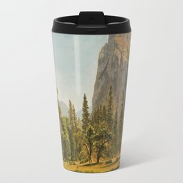 Bridal Veil Falls, Yosemite Valley, California Travel Mug