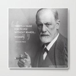 Sigmund Freud - Beards Metal Print