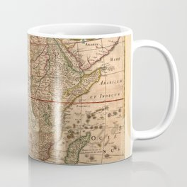 Map Of Africa 1641 Coffee Mug