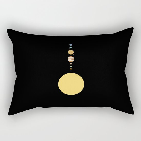 Minimal Solar System Rectangular Pillow