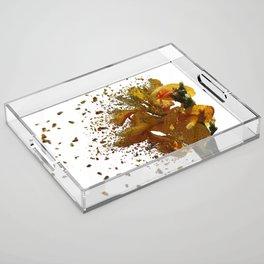 Iris Explosion Acrylic Tray