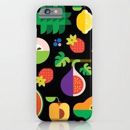 Fruit Medley Black iPhone Case