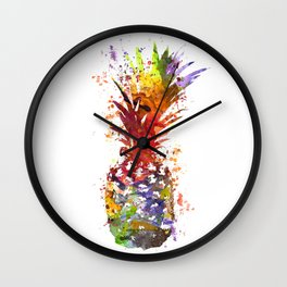 Pineapple Splash Wall Clock