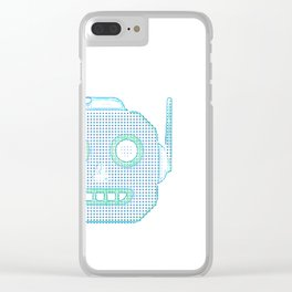 Robot Emoji Clear iPhone Case