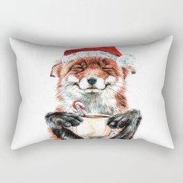 Morning Fox Christmas Rectangular Pillow