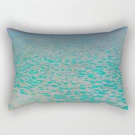"""Gustav Klimt """"Lake Attersee"""" Rectangular Pillow"""