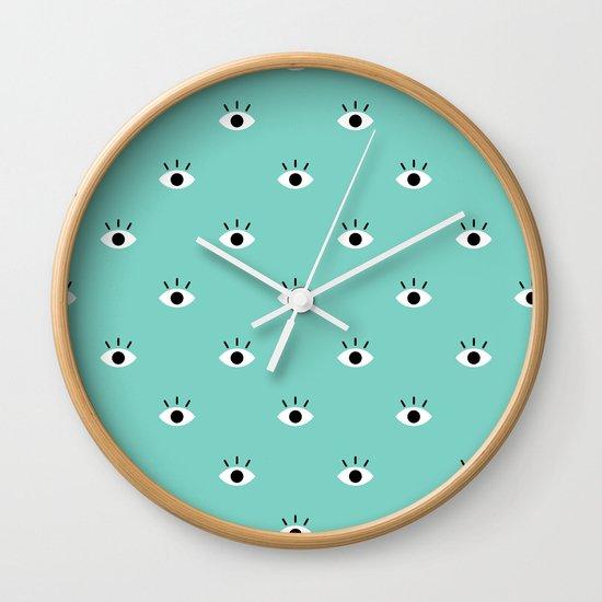 Blue Vision Wall Clock