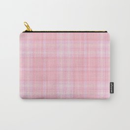 Pink Blush Plaid Pattern Carry-All Pouch