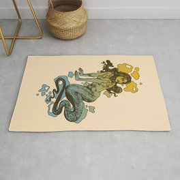 Lamia Yellow and Blue Rug