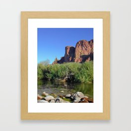Salt River Cliffs Framed Art Print