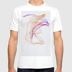 Strings MEDIUM Mens Fitted Tee White