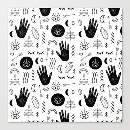 Witchy Patterns Canvas Print