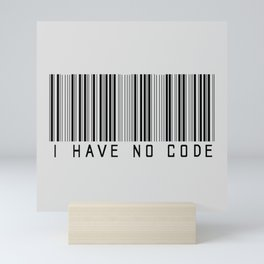 No code Mini Art Print