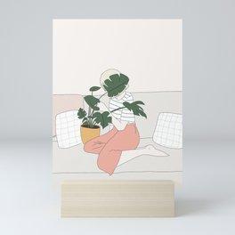 Monstera girl Mini Art Print