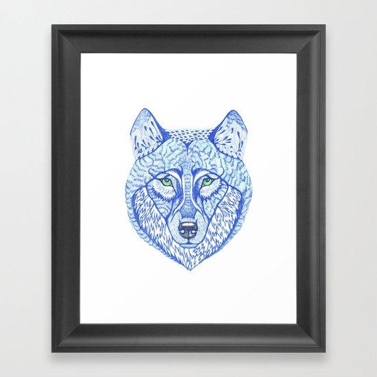 ice wolf Framed Art Print