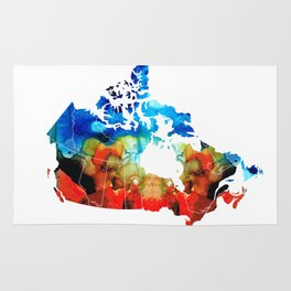 Canada - Canadian Map By Sharon Cummings Rug