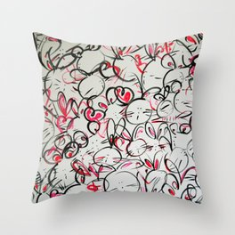Bunnyliscious Throw Pillow