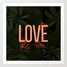 LOVE in the Forest Art Print
