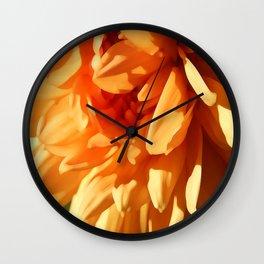 Vermont Autumn Golden Flower Wall Clock