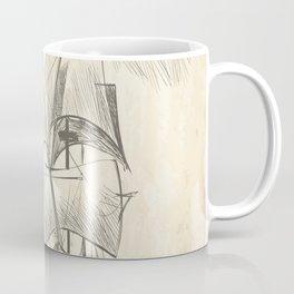 Vintage hand drawn galleon background Coffee Mug