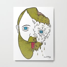 Face Melter Print Metal Print